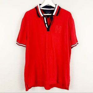 Tommy Hilfiger striped collar polo shirt